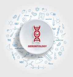 icons for medical specialties gerontology concept vector image