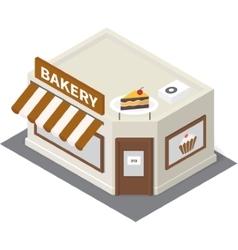 isometric bakery building icon vector image