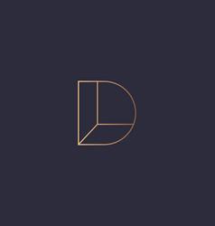 Letter d logo monogram minimal style identity vector