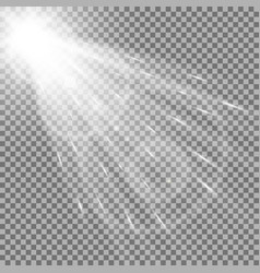 Light circle with a spotlight white color vector
