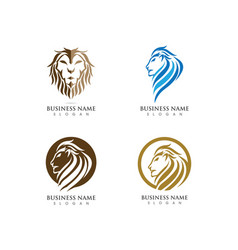 Lion head logo template vector