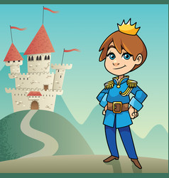 little prince background vector image