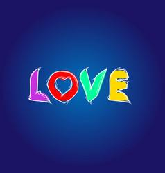 love letter in vector image