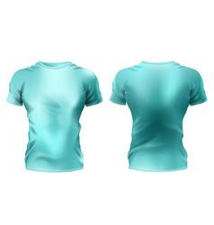 Male t-shirt mockup unisex sportswear vector