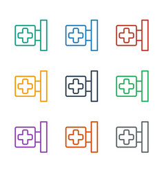 Medical cross icon white background vector