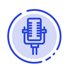 microphone multimedia record song blue dotted vector image