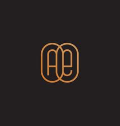 monogram ae vector image