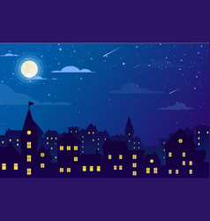night city with buildings vector image