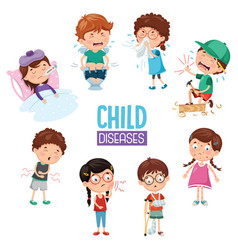 Of child diseases vector
