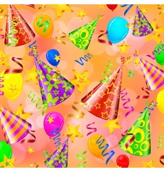Party decorations background vector image