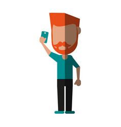 Person using phone icon image vector