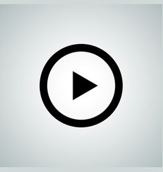 play button icon video audio player vector image