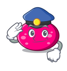 Police ellipse character cartoon style vector