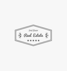 real estate logo template vector image vector image