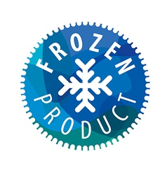 Round logo with snowflake for the frozen products vector