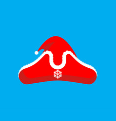 santa claus pirate red cap christmas buccaneer vector image