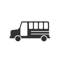 school bus icon design template isolated vector image