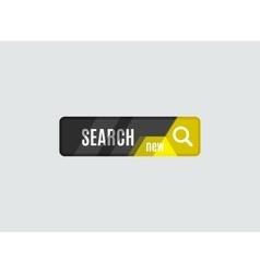 Search button futuristic hi-tech UI design vector image