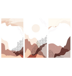 set instagram stories a abstract landscape vector image