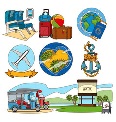 Set of on the theme of summer beach holidays vector