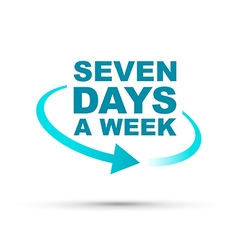 Seven days blue vector