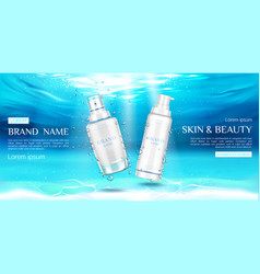 skin care beauty product sprayer and pump tubes vector image