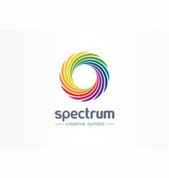 spectrum spiral rainbow creative symbol concept vector image