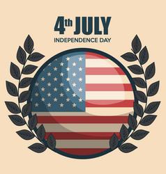 usa independence day emblem celebration vector image