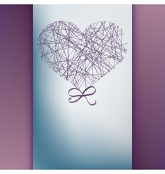 Valentines day card with copyspace EPS10 vector