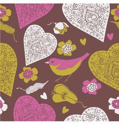 vintage love print vector image