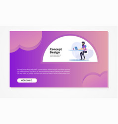 Web page design templates for business finance vector