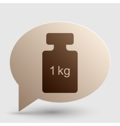 Weight simple sign Brown gradient icon on bubble vector