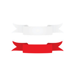 White and red ribbon vector