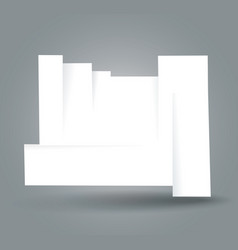 white cut banner with place for your text vector image