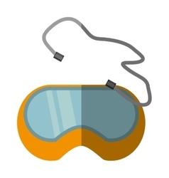 Cartoon glasses security work element shadow vector