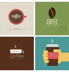 Coffe shop set vector image