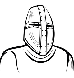 Helmet of the medieval knight vector image vector image