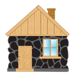 House from stone vector image
