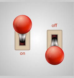 switch lever vector image