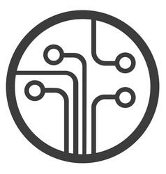 technology scheme symbol flat vector image vector image