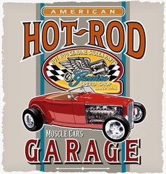 american car garage vector image vector image