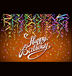 Birthday background with colorful confetti - vector