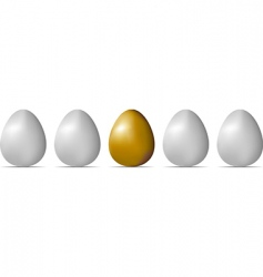 egg object vector image vector image