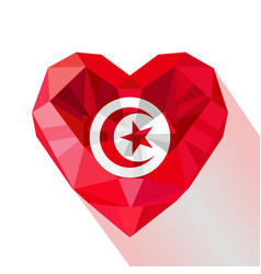 Flat style logo symbol of love tunisia vector