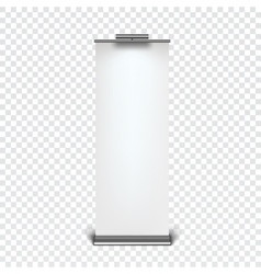 Roll up banner stand vector image vector image