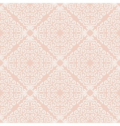 White curly graphic pattern on light background vector image vector image
