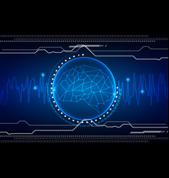abstract brain technology background vector image vector image