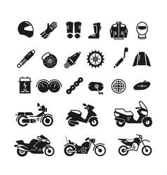 Racing motorcycle motorbike parts and vector
