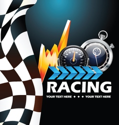 Racing poster vector image vector image