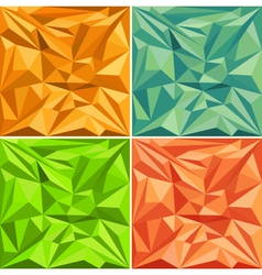 set of polygonal pattern backgrounds vector image